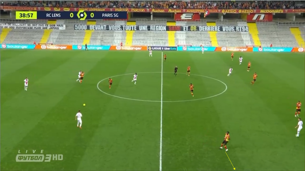 Franck Haise at Lens 2020/21 - scout report -  tactical analysis tactics